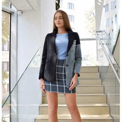 Джинсово-классический пиджак