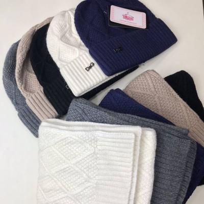 Набор (шапка и шарф) D&G