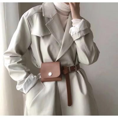 Поясная сумочка маленькая с серебром
