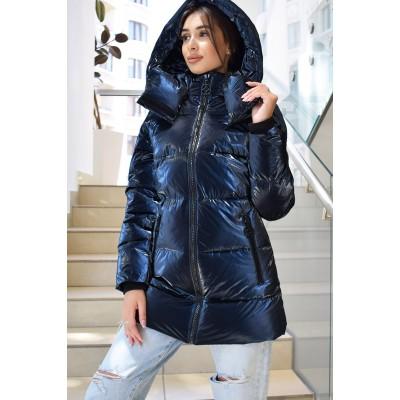 Куртка пуховик женская метализированная 2020