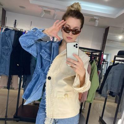 Пиджак женский 2 в 1: джинсовый и костюмный