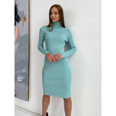 Трикотажное тёплое платье 025#