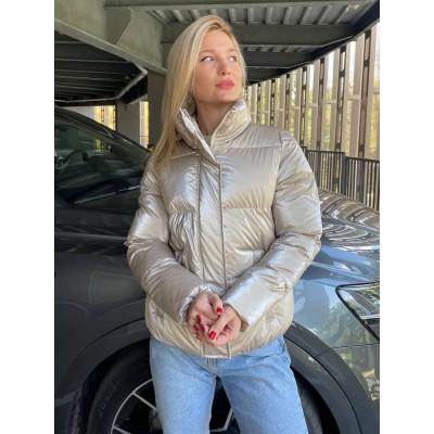 Куртка-пуховик демисезонный глянцевый Beauty биопух