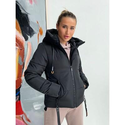 Зимняя куртка женская укороченная