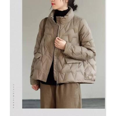 Куртка-пуховик демисезонная без капюшона на змейке zigzag