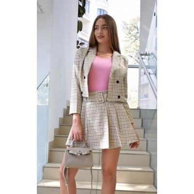 Костюм укороченный пиджак и юбка